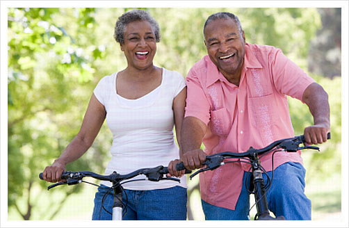 seniors, bicycles, exercise